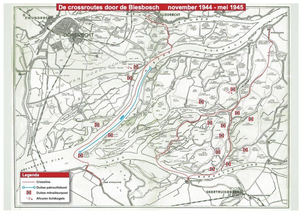 De Crossroutes door de Biesbosch